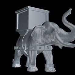 elefan te deguerra.jpg Download STL file War Elephant • 3D printing design, borjajusticialeon