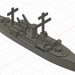 1.png Download OBJ file Tsingtau - Torpedo boat floating base • 3D print template, Argon