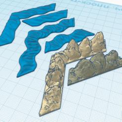 Download 3D printer files Runewars epic game Rock and Rivers set 3D print model, Argon