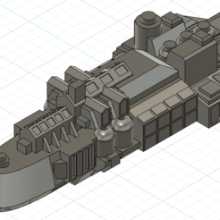1.png Télécharger fichier OBJ Navire de classe Kobold Flotte de combat gothique • Design à imprimer en 3D, Argon
