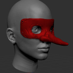 Download 3D printer designs Fujita Dorohedoro Tengu mask, Argon