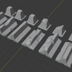 1.png Download OBJ file Concrete barrier and Dragon teeth for wargames • Model to 3D print, Argon