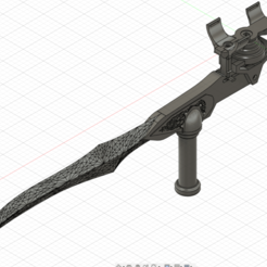 0.png Download STL file Bloodrayne Twin blades for cosplay • Template to 3D print, Argon