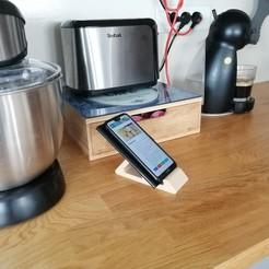 Télécharger modèle 3D gratuit Support téléphone (3 Positions mode Portrait ou Paysage), yribani