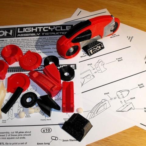 Finished_Lightcycle_Model_Red02_display_large_display_large.jpg Download free STL file Lightcycle Model Kit • Design to 3D print, billythemighty3Dprinter