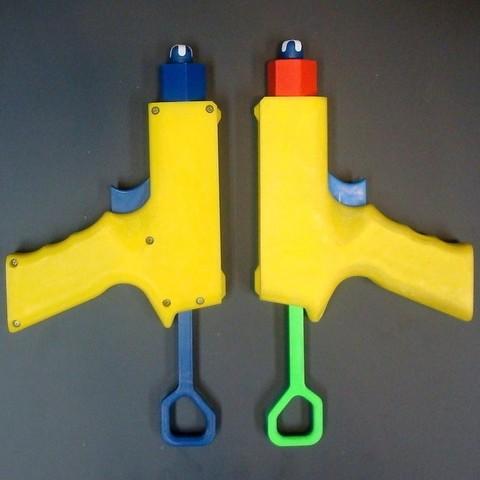 Télécharger fichier imprimante 3D gratuit LF1 - Blaster à fléchettes en mousse (compatible NERF), Kellywatchthestars