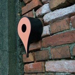 Download free 3D print files Google Maps Pin Birdhouse, Kellywatchthestars