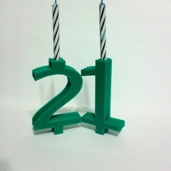 Free STL file Basic Number Candle - Birthday Candle, Kellywatchthestars