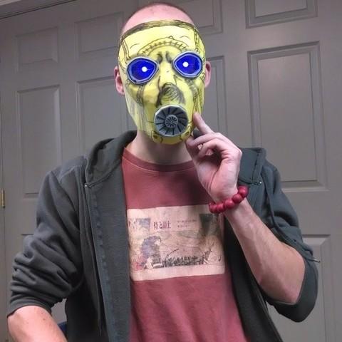 Télécharger plan imprimante 3D gatuit Borderlands 2 Masque Psycho, Kellywatchthestars