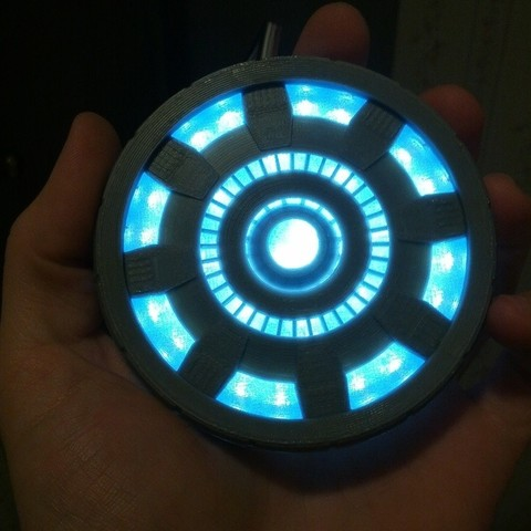 Impresiones 3D gratis Reactor de arco de Iron Man 2, Kellywatchthestars