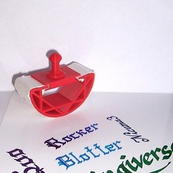 Download free STL file Printable Rocker Blotter • Object to 3D print, Kellywatchthestars