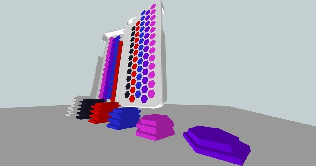 iPhone_5_Honey_Comb_plug_case_display_large.jpg Télécharger fichier STL gratuit Honey Comb Étui pour iPhone 5 Plug Case • Design pour impression 3D, AliSouskian