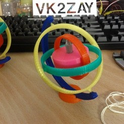 Free 3D printer designs Toy Gyroscope, AliSouskian