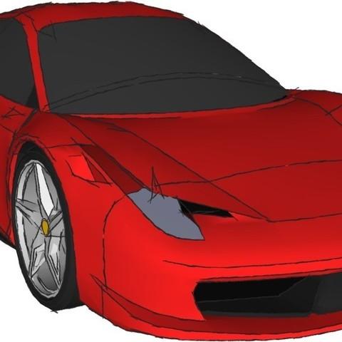 Download free STL Ferrari 458 Model Kit, AliSouskian