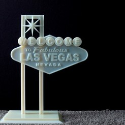 Download free STL file Las Vegas Sign (Update), AliSouskian