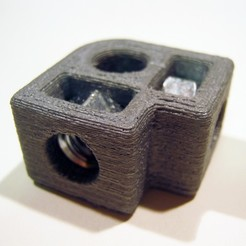 Free 3D printer designs 3d Rod Connector, JeremyRonderberg93