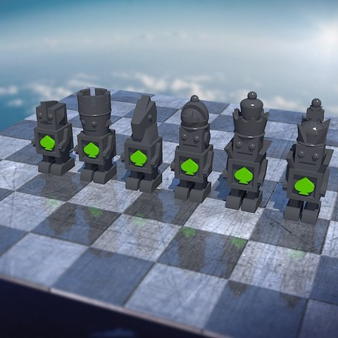 Free STL file Bot Chess Set Black #Chess, JeremyRonderberg93