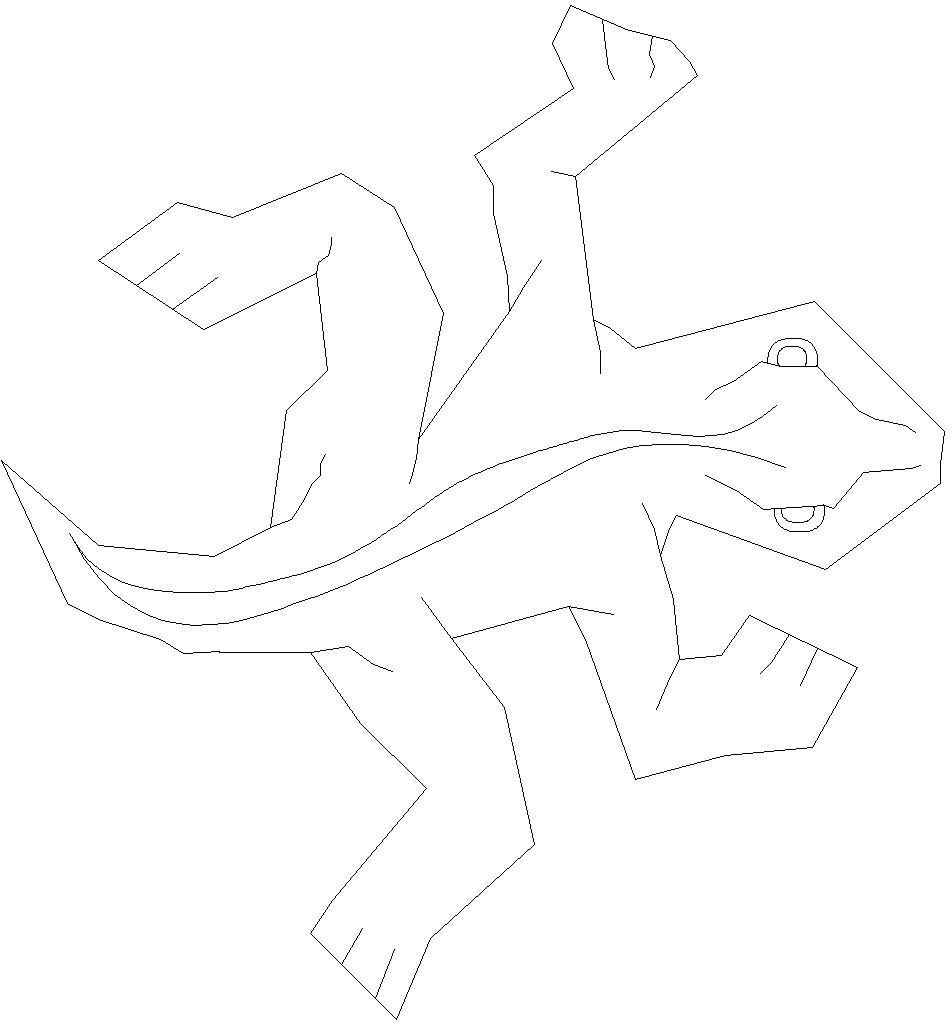 MC_Escher_single_lizard_tile_display_large_display_large.jpg Télécharger fichier STL gratuit Lézard tessellant à la Escher-Style / • Objet à imprimer en 3D, JeremyRonderberg93
