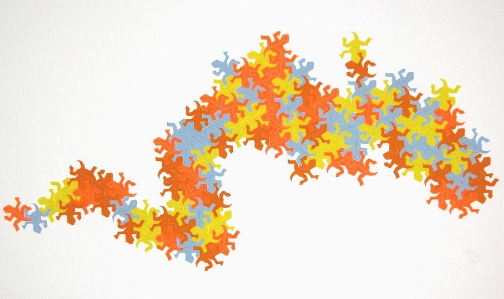 Escher-lizards-on-wall-light-son_display_large_display_large.jpg Télécharger fichier STL gratuit Lézard tessellant à la Escher-Style / • Objet à imprimer en 3D, JeremyRonderberg93