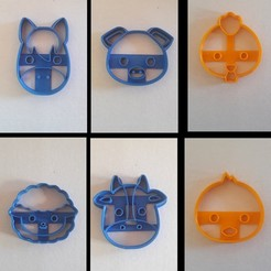 animales de la granja.jpg Télécharger fichier STL pack animal ferme biscuit biscuit • Design imprimable en 3D, BlackSand3DMaker