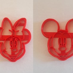 Download 3D printer files mickey and minnie cookie cutter, BlackSand3DMaker