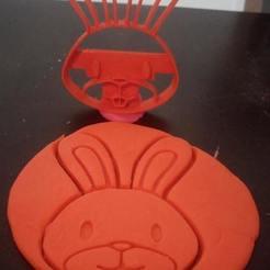 3D print model rabbit cookie cutter, BlackSand3DMaker