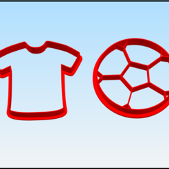 futbol.png Download STL file t shirt and football cookie cutter • 3D print design, BlackSand3DMaker