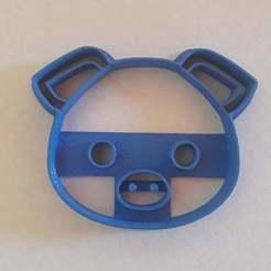 Descargar diseños 3D pig cookie cutter, BlackSand3DMaker