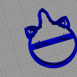 Download free STL unicor cookie cutter, BlackSand3DMaker