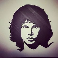 Download free 3D printer designs Jim Morrison Portrait Wall Art, MetaSeb
