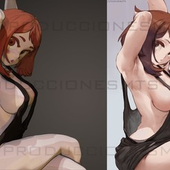 Download 3D printing models Sexy Uraraka boku no hero one body version, produccionesmts