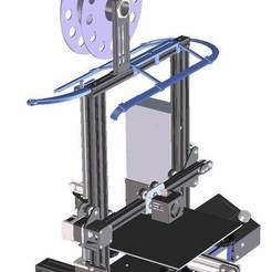 cad-view-3.jpg Télécharger fichier STL gratuit Un autre cadre de bande LED pour ENDER 3 et ENDER 3 Pro • Objet pour imprimante 3D, rtoenshoff