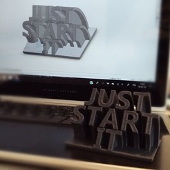 Download free 3D printing templates JUST START IT! Say stop to procrastination, thibaut-soete