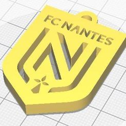 Télécharger modèle 3D gratuit Logo FC Nantes, nathanpapot