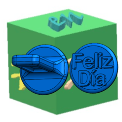 SELLO FELÍZ DÍA.png Download free STL file HAPPY DAY STAMP • 3D printer model, hechoen3dargentina