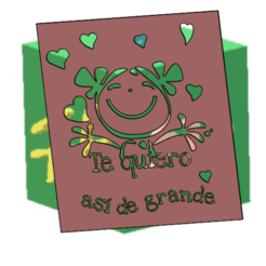 Stencil TE QUIERO ASÍ DE GRANDE.png Download free STL file STENCIL I LOVE YOU THIS BIG • 3D printable design, hechoen3dargentina