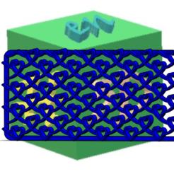 TRAMA CORAZONES 2.png Télécharger fichier STL gratuit WOOF - COEURS • Plan pour imprimante 3D, hechoen3dargentina