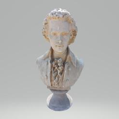 Imprimir en 3D Wolfgang Amadeus Mozart Bust, LiVE3D-RP