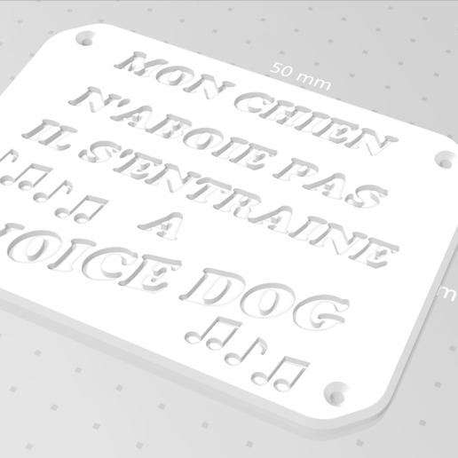 Download free 3D printer model WARNING PLATE, zarghan