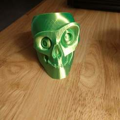 Free STL file Halloween Candy Skull Bowl, nilrem4063