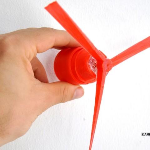 Free 3D printer designs KamerMaker-Wind Turbines-Prototype 1, Terryjenkins3D