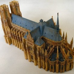 Download free 3D printing models Reims Cathedral Kitset, zootopia3Dprints