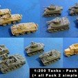 Download free 3D model 1:200 Tanks and Vehicles - Pack 2, zootopia3Dprints