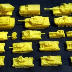 Free 3D printer designs 1:200 Tanks and Vehicles  Pack 4, zootopia3Dprints