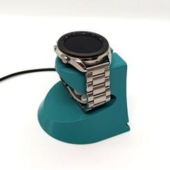 1.jpg Download STL file Samsung Galaxy Watch 3 holder • 3D printable design, Kratzilla