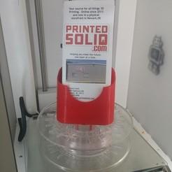 Download free 3D printing models Spool Mount Brochure Holder, PrintedSolid
