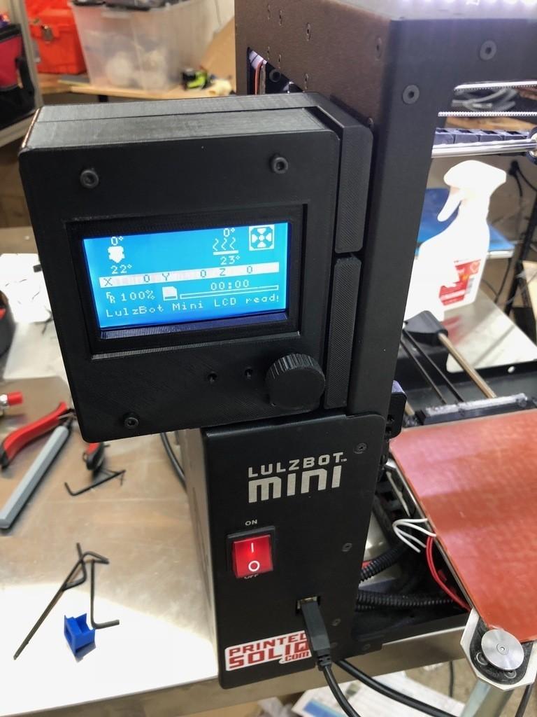 26e175271feca945820fd5ba6d92ee90_display_large.jpg Download free STL file Printed Solid Lulzbot Mini LCD Case • Design to 3D print, PrintedSolid