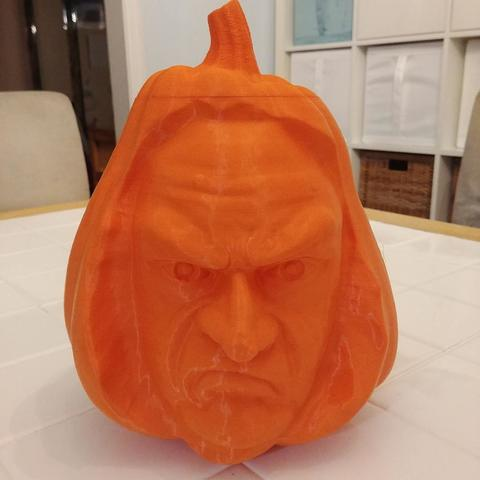 Download free 3D printer designs Creepy Face Pumpkin, PrintedSolid