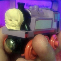 Free 3D printer model Violet the Train - Custom Train Faces, PrintedSolid