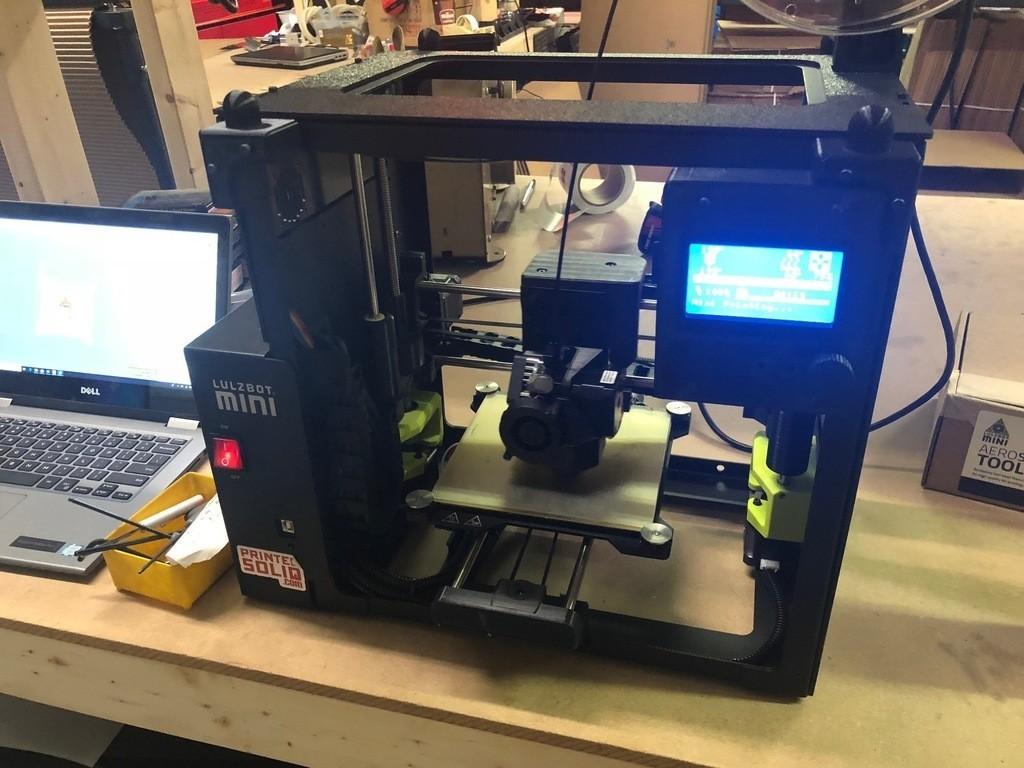 cf8a90efcba08733e2580e20ebf21c80_display_large.jpg Download free STL file Printed Solid Lulzbot Mini Enclosure Bracket for LCD • Model to 3D print, PrintedSolid